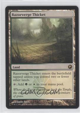 2010 Magic: The Gathering - Scars of Mirrodin - Booster Pack [Base] #228 - Razorverge Thicket