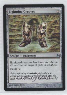 2011 Magic: The Gathering - - Commander Format #253 - Lightning Greaves