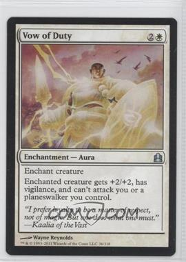 2011 Magic: The Gathering - - Commander Format #36 - Vow of Duty