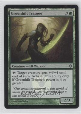 2011 Magic: The Gathering - New Phyrexia Booster Pack [Base] Foil #112 - Greenhilt Trainee