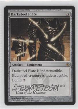 2011 Magic: the Gathering - Mirrodin Besieged Booster Pack [Base] #104 - Darksteel Plate