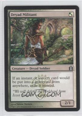 2012 Magic: The Gathering - Return to Ravnica Booster Pack [Base] #214 - Dryad Militant