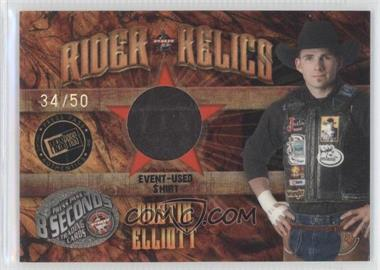 2009 Press Pass 8 Seconds - Rider Relics - Holofoil #RR-DE - Dustin Elliott /50