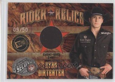 2009 Press Pass 8 Seconds - Rider Relics - Holofoil #RR-RD - Ryan Dirteater /50