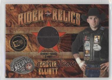 2009 Press Pass 8 Seconds - Rider Relics #RR-DE - Dustin Elliott