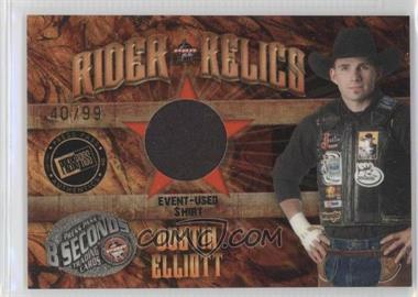 2009 Press Pass 8 Seconds Rider Relics Gold #RR-DE - Dustin Elliott /99