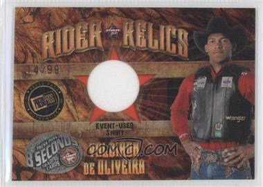 2009 Press Pass 8 Seconds Rider Relics Gold #RR-VO - Valdiron De Oliveira /99