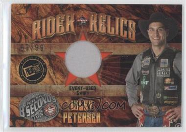 2009 Press Pass 8 Seconds Rider Relics Gold #RR-WP - Wiley Petersen /99