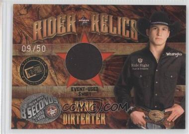 2009 Press Pass 8 Seconds Rider Relics Holofoil #RR-RD - Ryan Dirteater /50