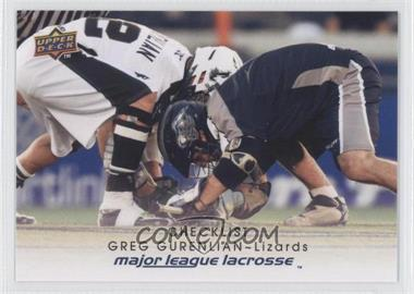2010 Upper Deck Major League Lacrosse - [Base] #100 - Greg Gurenlian
