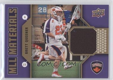 2011 Upper Deck Major League Lacrosse - MLL Materials #M-BQ - Brett Queener