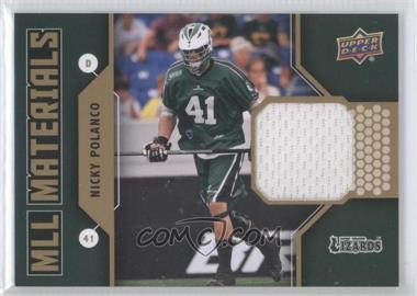 2011 Upper Deck Major League Lacrosse - MLL Materials #M-NP - Nicky Polanco