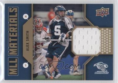 2011 Upper Deck Major League Lacrosse MLL Materials #M-AS - Alex Smith