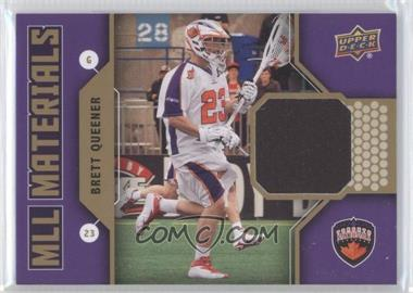 2011 Upper Deck Major League Lacrosse MLL Materials #M-BQ - Brett Queener