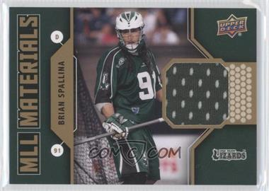 2011 Upper Deck Major League Lacrosse MLL Materials #M-BS - Brian Spallina