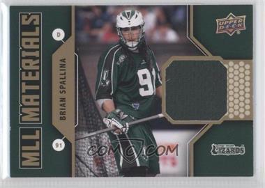 2011 Upper Deck Major League Lacrosse MLL Materials #M-BS - Brian Spallina