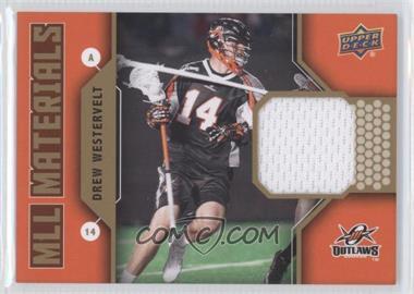 2011 Upper Deck Major League Lacrosse MLL Materials #M-DW - Drew Westervelt