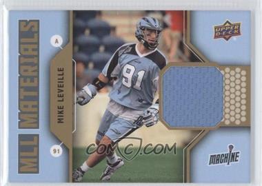 2011 Upper Deck Major League Lacrosse MLL Materials #M-ML - Mike Leveille