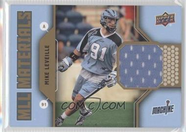 2011 Upper Deck Major League Lacrosse MLL Materials #M-ML - Mike Leveille