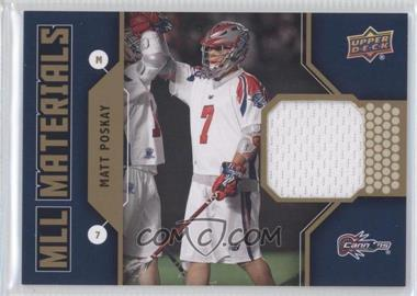 2011 Upper Deck Major League Lacrosse MLL Materials #M-MP - Matt Poskay
