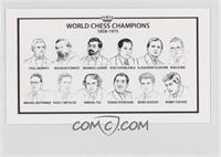 World Chess Champions 1858-1975 (Paul Morphy, Wilhelm Steinitz, Emanuel Lasker,…