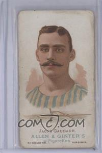 1887 Allen & Ginter's The World's Champions Tobacco N28 #JAGA - Jacob Gaudaur [Good to VG‑EX]