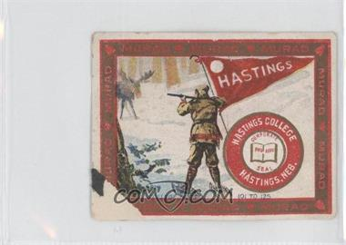 1910 Murad Cigarettes College Series T51 #110 - Hastings College [Poor]
