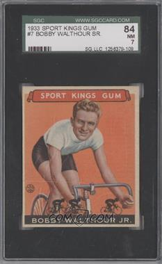 1933 Sport Kings Gum - [Base] #31 - Bobby Walthour, Jr. [SGC84]