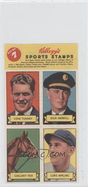1937 Kellogg's Pep Sports Stamps - [Base] #7 - Gene Tunney, Dick Merrill, Gallant Fox, Luke Appling