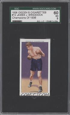 1937 Ogden's Champions of 1936 - Tobacco [Base] #12 - James J. Braddock [SGC60]