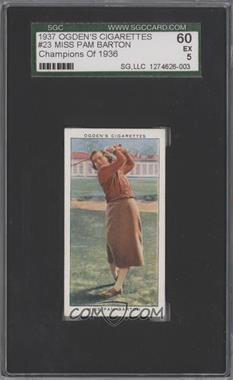 1937 Ogden's Champions of 1936 Tobacco [Base] #23 - Pam Barton [SGC 60]