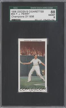 1937 Ogden's Champions of 1936 Tobacco [Base] #34 - Frederick Perry [SGC88]
