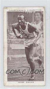 1939 Churchman's Cigarettes Kings of Speed [???] #45 - Jesse Owens [GoodtoVG‑EX]