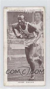 1939 Churchman's Cigarettes Kings of Speed Tobacco [Base] #45 - Jesse Owens [Good to VG‑EX]