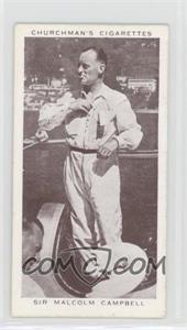 1939 Churchman's Kings of Speed - Tobacco [Base] #36 - Sir Malcom Campbell