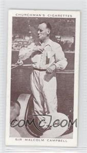 1939 Churchman's Kings of Speed Tobacco [Base] #36 - Sir Malcom Campbell