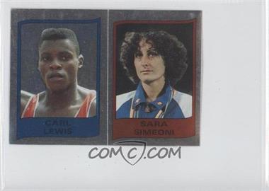 1986 Panini Supersport Stickers - [Base] #101 - Carl Lewis, Sara Simeoni