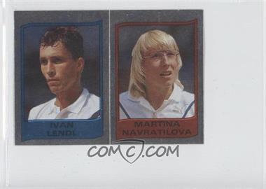 1986 Panini Supersport Stickers #111 - Ivan Lendl, Martina Navratilova