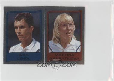 1986 Panini Supersport Stickers #111 - Ivan Lendl, Martina Navratilova