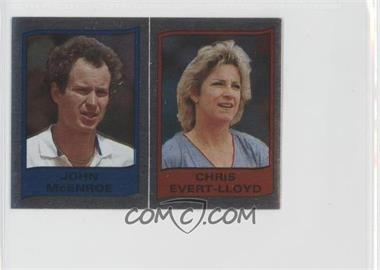 1986 Panini Supersport Stickers #112 - John McEnroe, Chris Evert-Lloyd