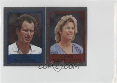 1986 Panini Supersport Stickers #112 - John McEnroe, Chris Evert-Lloyd