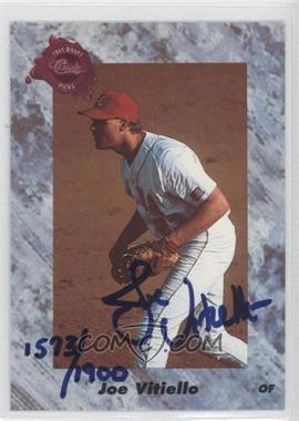 1991 Classic Draft Picks - Autographs #N/A - Joe Vitiello /1900