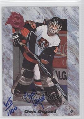 1991 Classic Draft Picks Autographs #N/A - Chris Osgood /1100