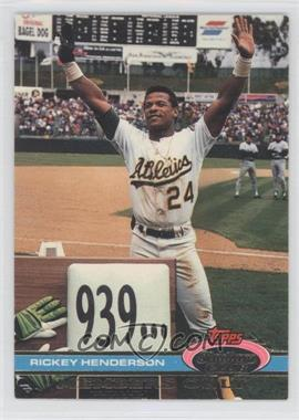 1991 Topps Stadium Club Members Only #N/A - Rickey Henderson