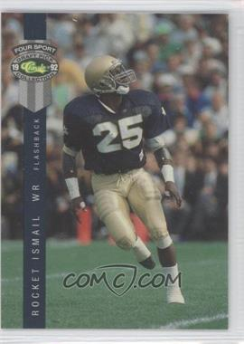 1992 Classic Four Sport Draft Pick Collection #310 - Rocket Ismail