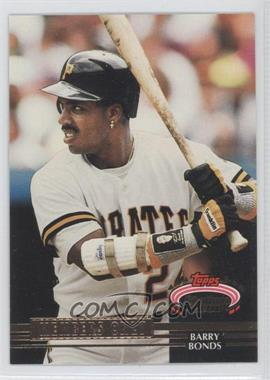 1992 Topps Stadium Club Members Only Scoreboard #N/A - Barry Bonds