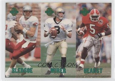 1993 Classic Four Sport Collection - Triple Card #TC2 - Drew Bledsoe, Garrison Hearst, Rick Mirer /65600