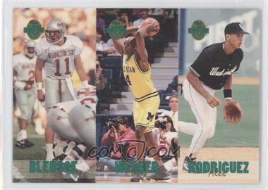 1993 Classic Four Sport Collection - Triple Card #TC5 - Drew Bledsoe, Chris Webber, Alex Rodriguez /65600