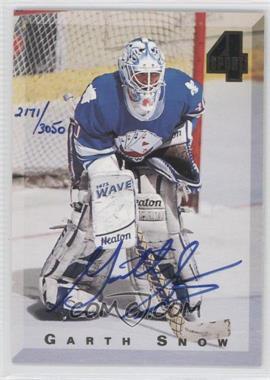1994 Classic 4 Sport Autograph #GASN - Garth Snow /3050