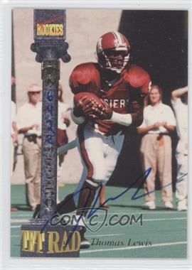 1994 Signature Rookies Tetrad - Signatures #38 - Thomas Lewis /7750